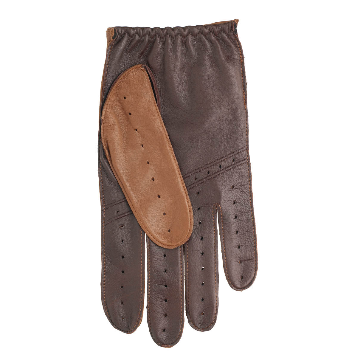 Leather driving gloves dents - Dents Leather Driving Gloves 5 1021 Cognac English