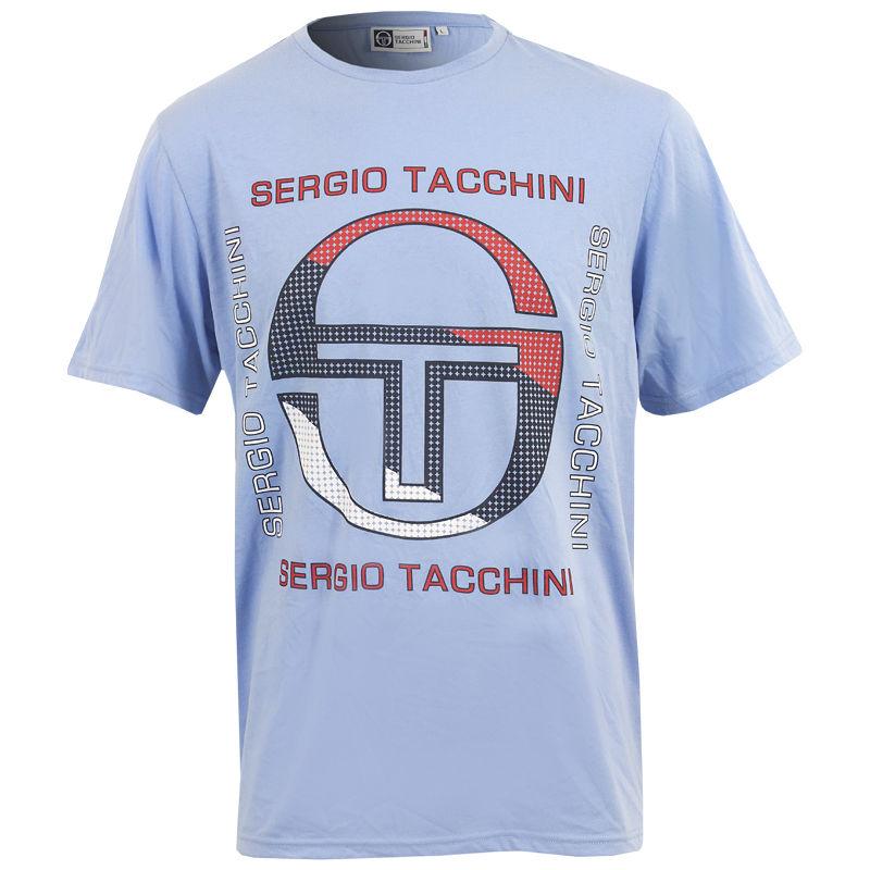 New Mens Sergio Tacchini Tarka Short Sleeve T Shirt Top Size S M L XL XXL