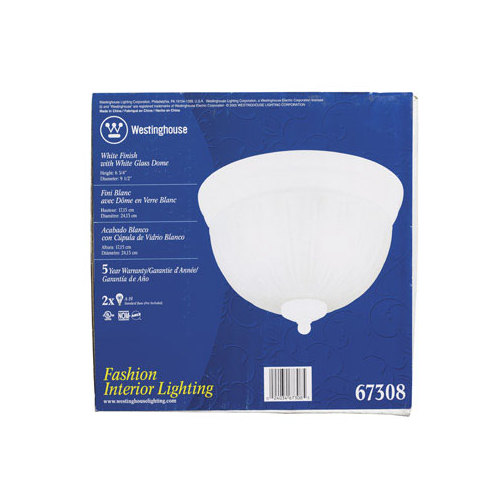 WESTINGHOUSE FLUSH MOUNT CEILING FIXTURE -Mfg# 67308 - Sold As 2 Units