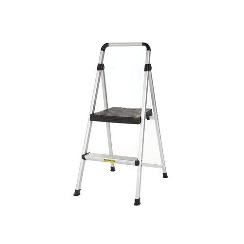 Cosco Cosco 225 lb. Gray Aluminum Lite Solutions 2-Step Stool-Mfg# 11-628-ABK4