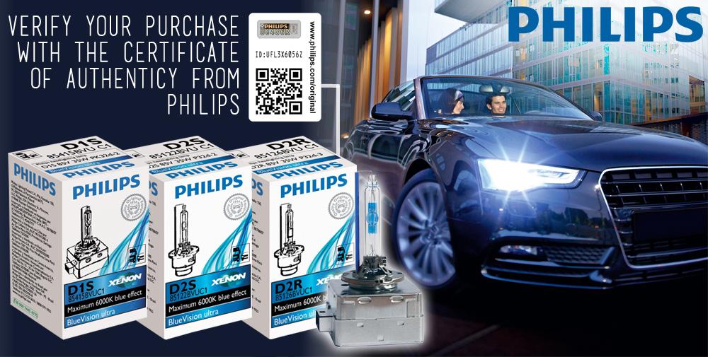 philips xenon blue vision ultra d1s 6000k xenon hid. Black Bedroom Furniture Sets. Home Design Ideas