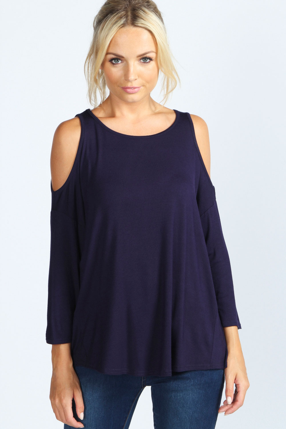 Boohoo-Womens-Ladies-Charlotte-Cut-Out-Shoulder-Top