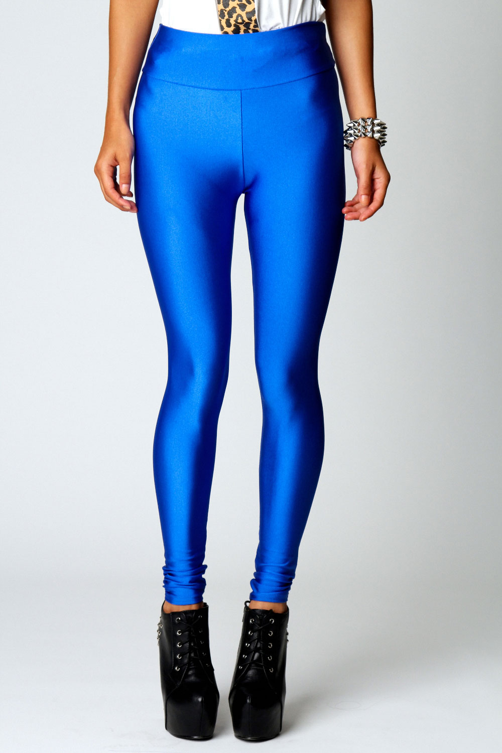 Boohoo-Womens-Ladies-Amerie-High-Shine-High-Waisted-Disco-Pants