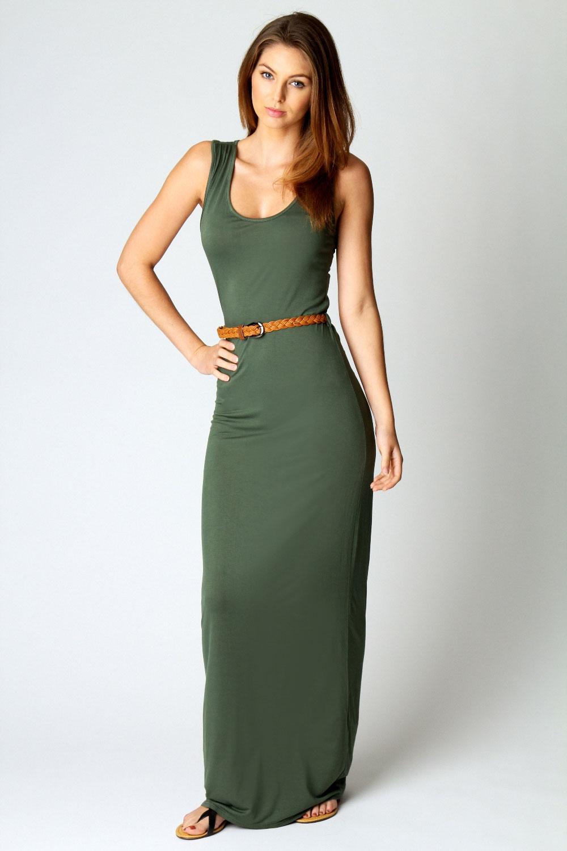 Boohoo-Womens-Ladies-Laura-Racer-Back-Maxi-Dress