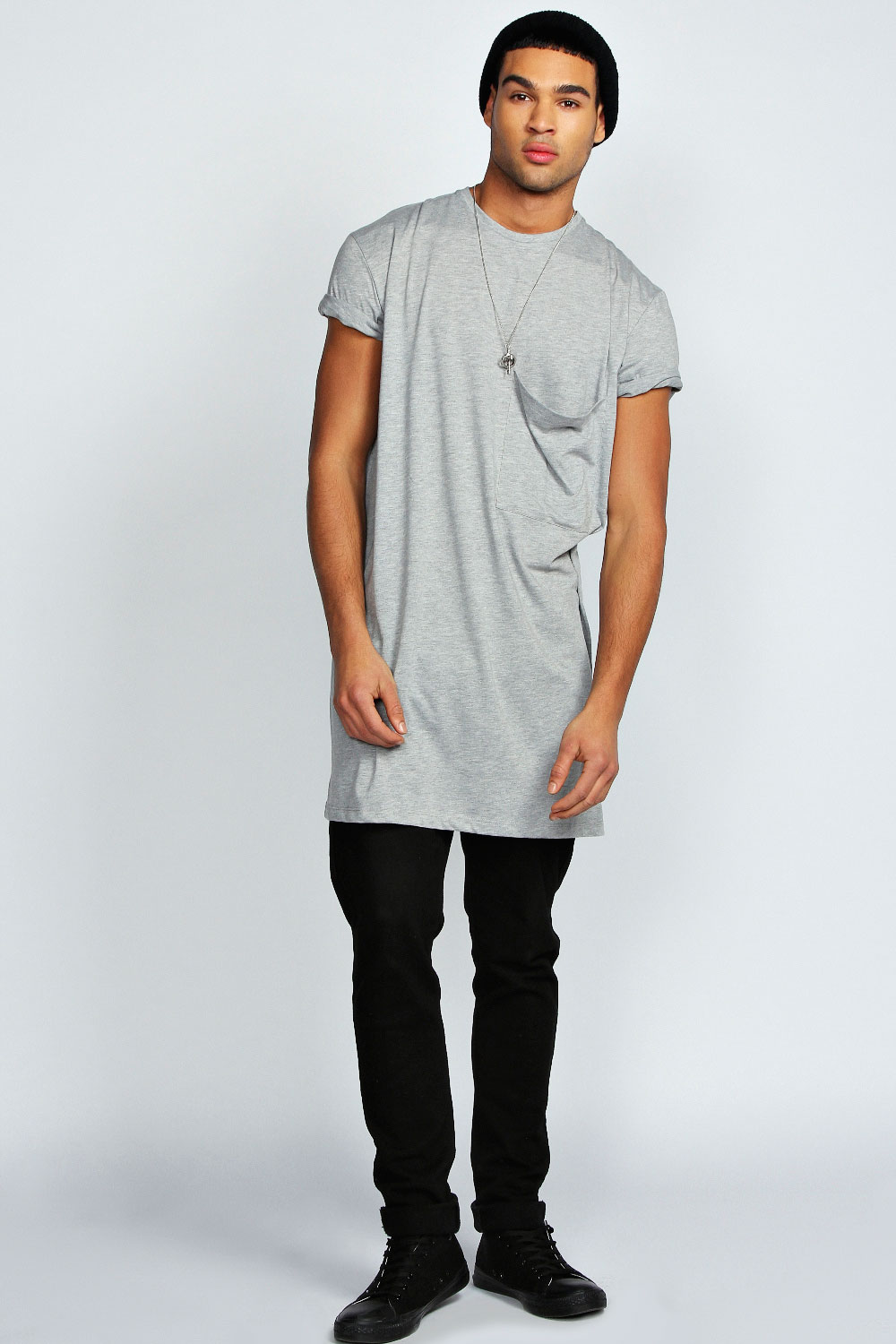 Boohoo Mens Oversized Pocket Long Line 100 Cotton Tee
