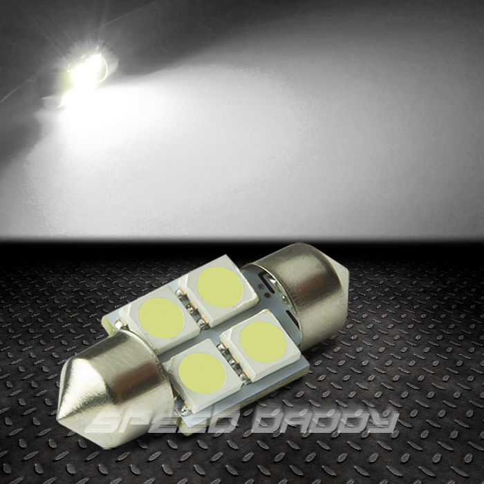 4 smd 4smd 31mm white 5050 5055 led auto interior dome map panel light bulb ebay. Black Bedroom Furniture Sets. Home Design Ideas