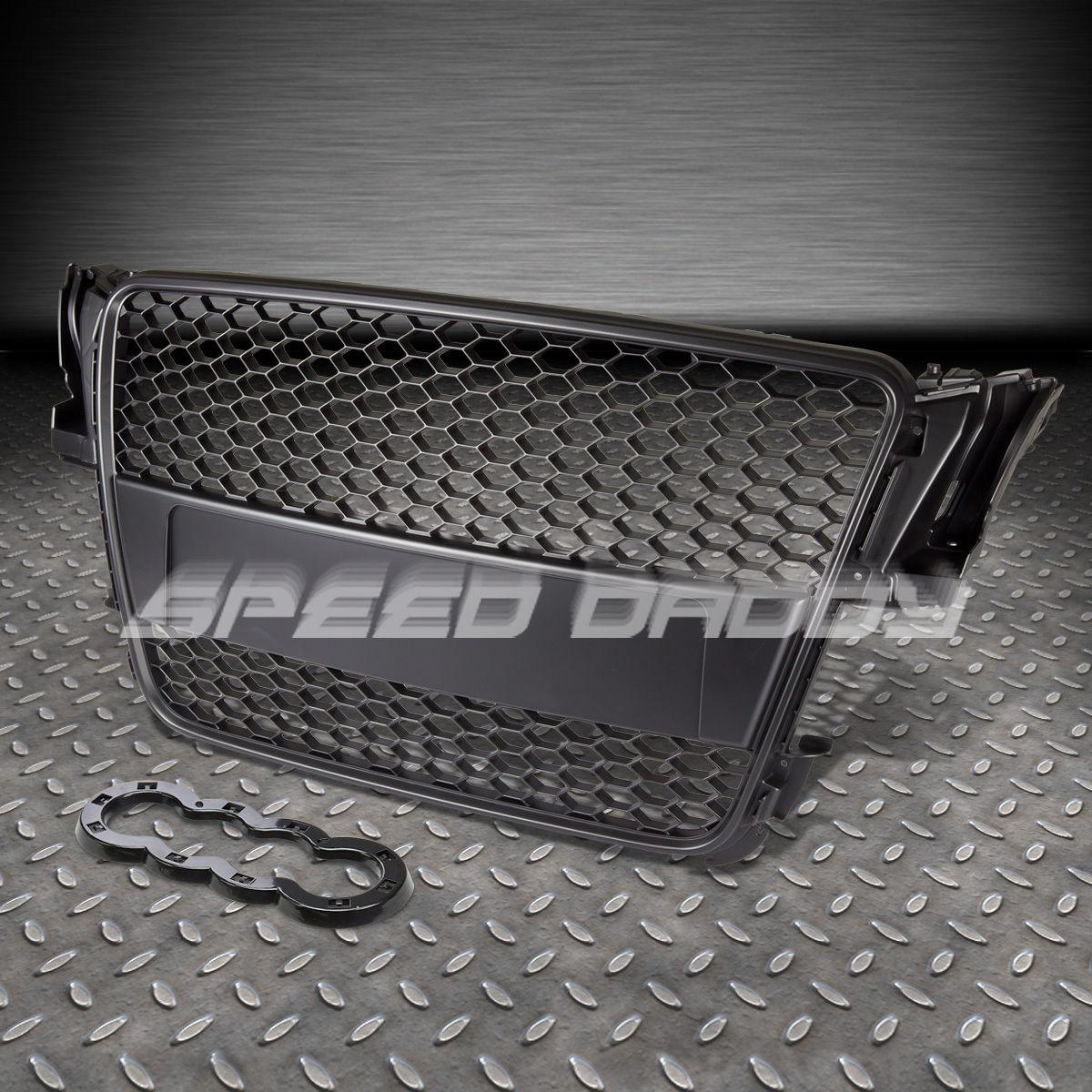 audi a5 typ 8t rs black abs front bumper frame grill. Black Bedroom Furniture Sets. Home Design Ideas
