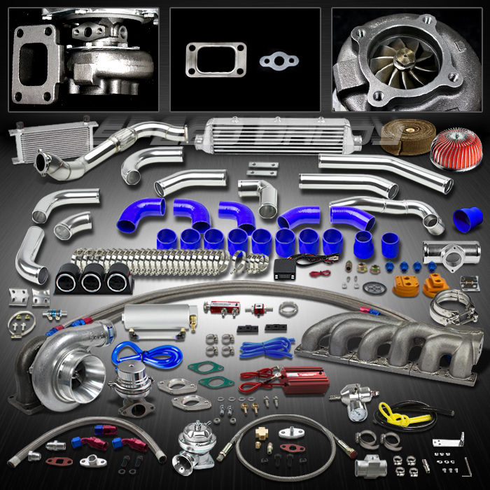 t3 25pc turbo kit gt35 turbocharger cast manifold downpipe. Black Bedroom Furniture Sets. Home Design Ideas