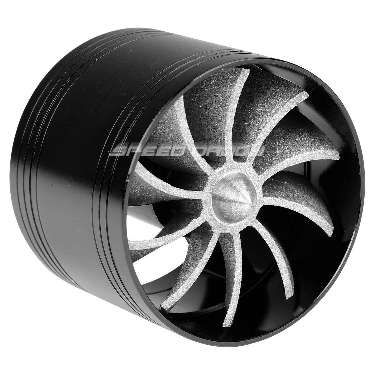 5 Propeller Fan : Black quot air intake turbo filter adapter fuel gas saver
