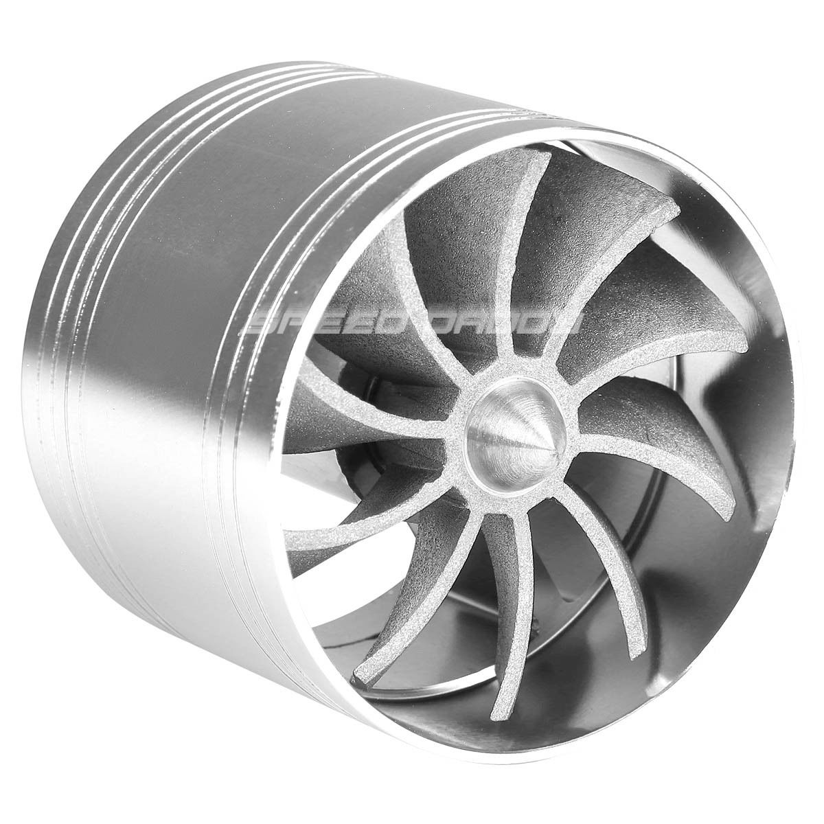 5 Propeller Fan : Silver quot air intake turbo filter adapter fuel gas saver
