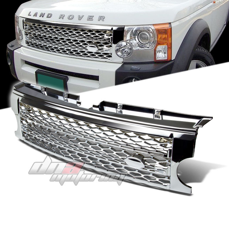 05-09 LAND ROVER LR3 DISCOVERY 3 MESH FRONT BUMPER CHROME