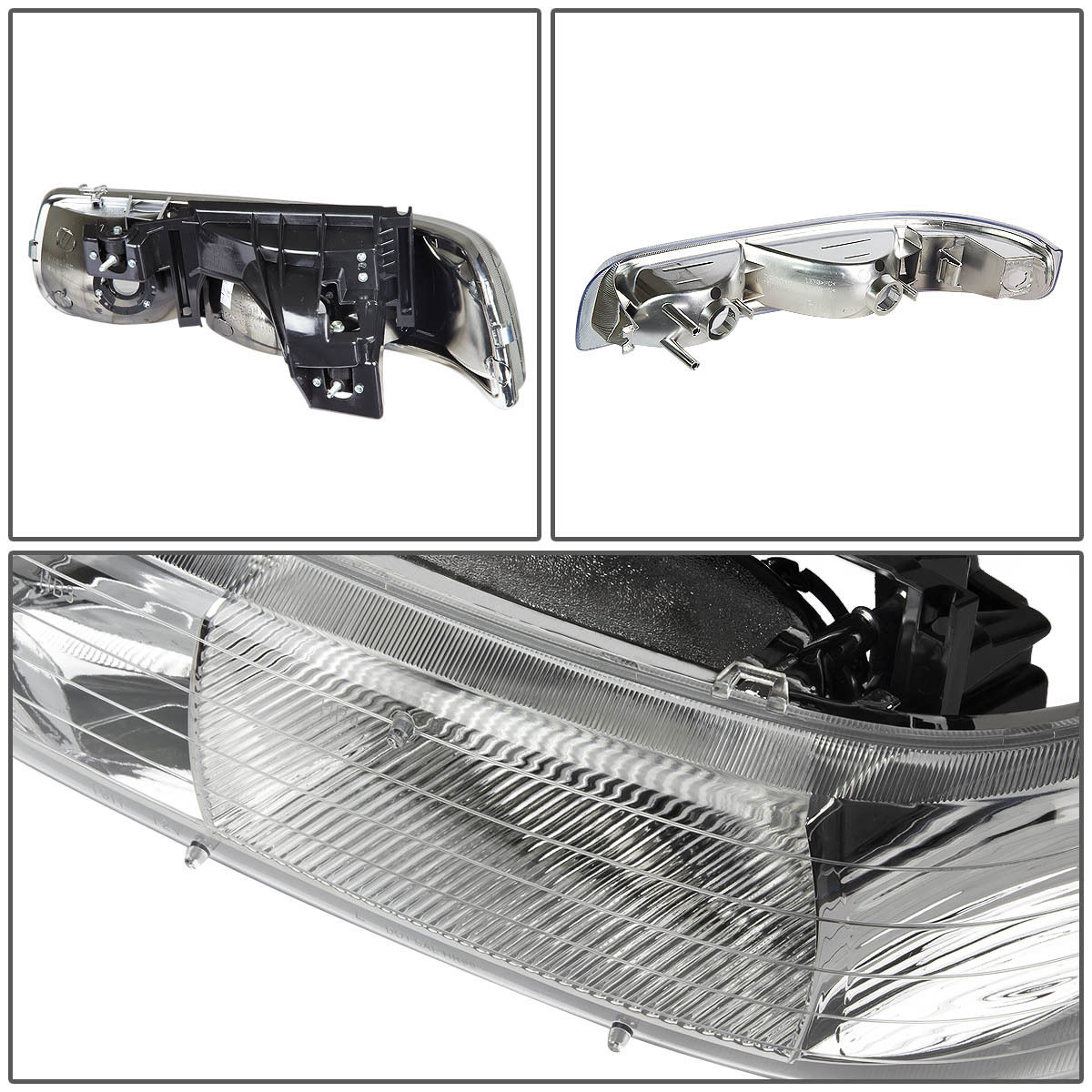 for chevy silverado 1999 2002 chrome housing corner bumper headlight light ebay