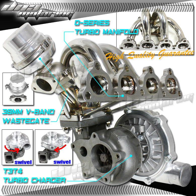D-SERIES D15/D16 EE EJ T3 RACING TURBO CHARGER+STAINLESS
