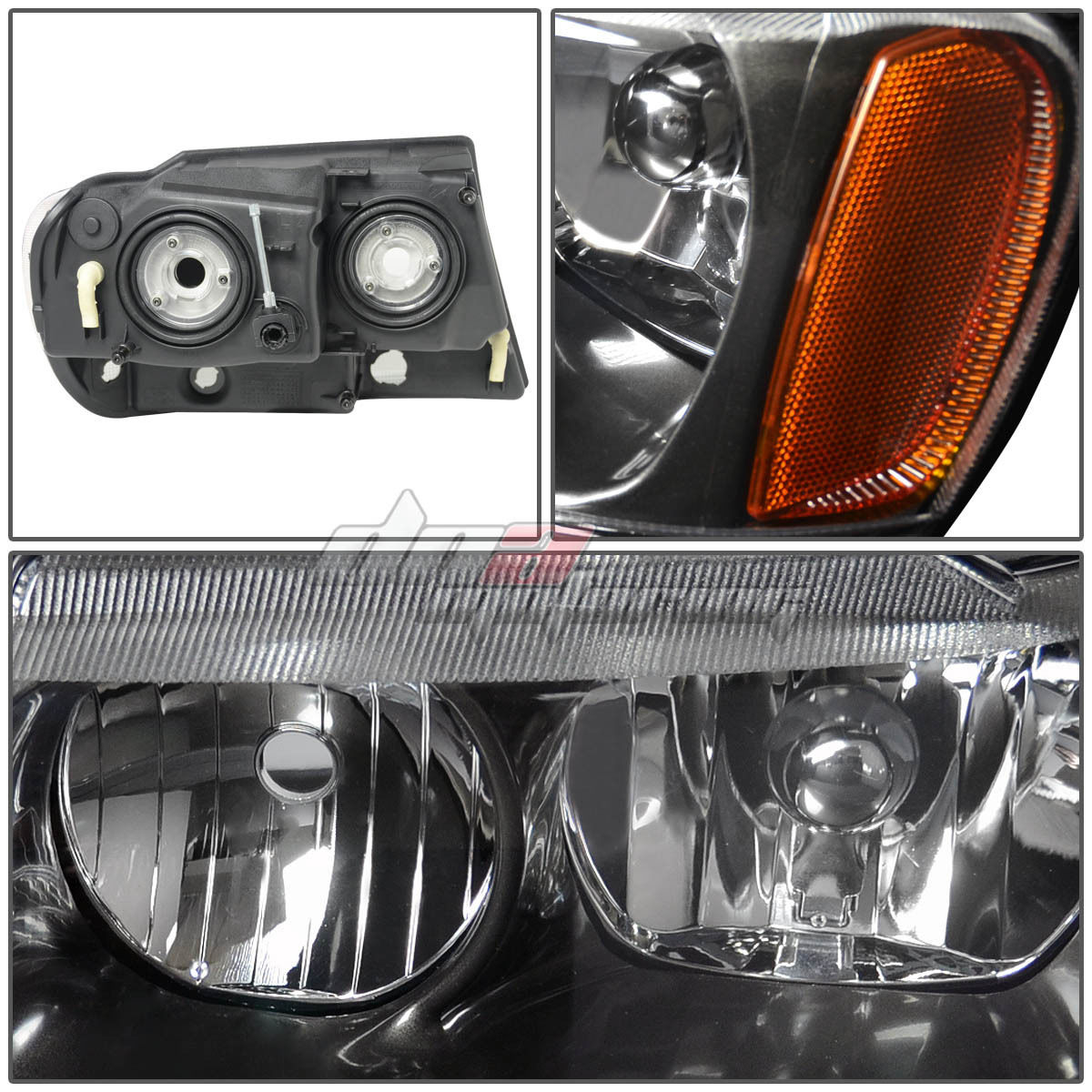 for jeep grand cherokee 99 04 wj laredo limited black clear headlights 4x4 ebay. Black Bedroom Furniture Sets. Home Design Ideas