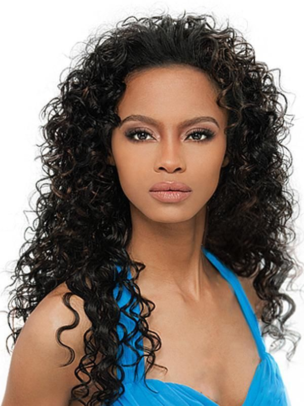 AMBER - OUTRE QUICK WEAVE SYNTHETIC HAIR HALF WIG