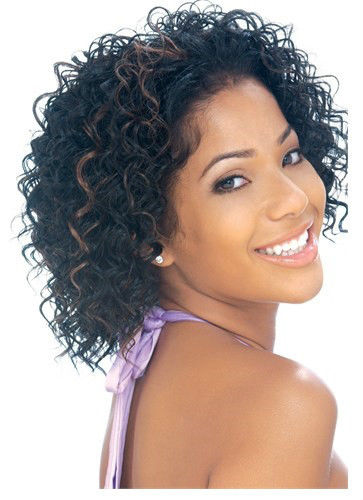 BAY BREEZE BY MODEL MODEL COCKTAIL SYNTHETIC HALF WIG SHORT CURLY STYLE