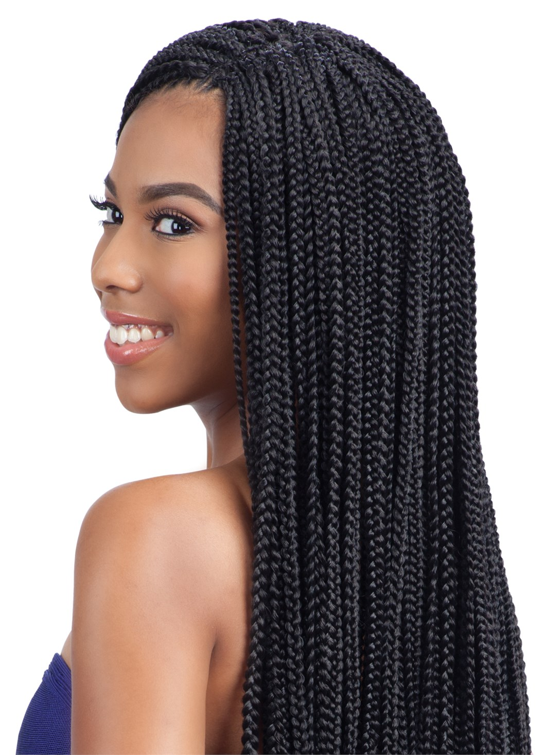 SMALL BOX BRAIDS - FREETRESS SYNTHETIC CROCHET BRAID HAIR PRE-LOOPED ...