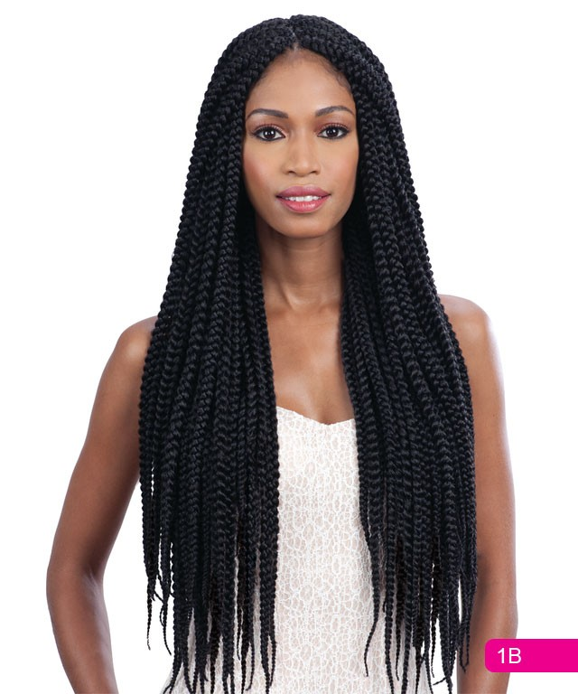 Crochet Box Braids Wig : ... Pack* LONG LARGE BOX BRAID - Freetress Synthetic Crochet Hair eBay