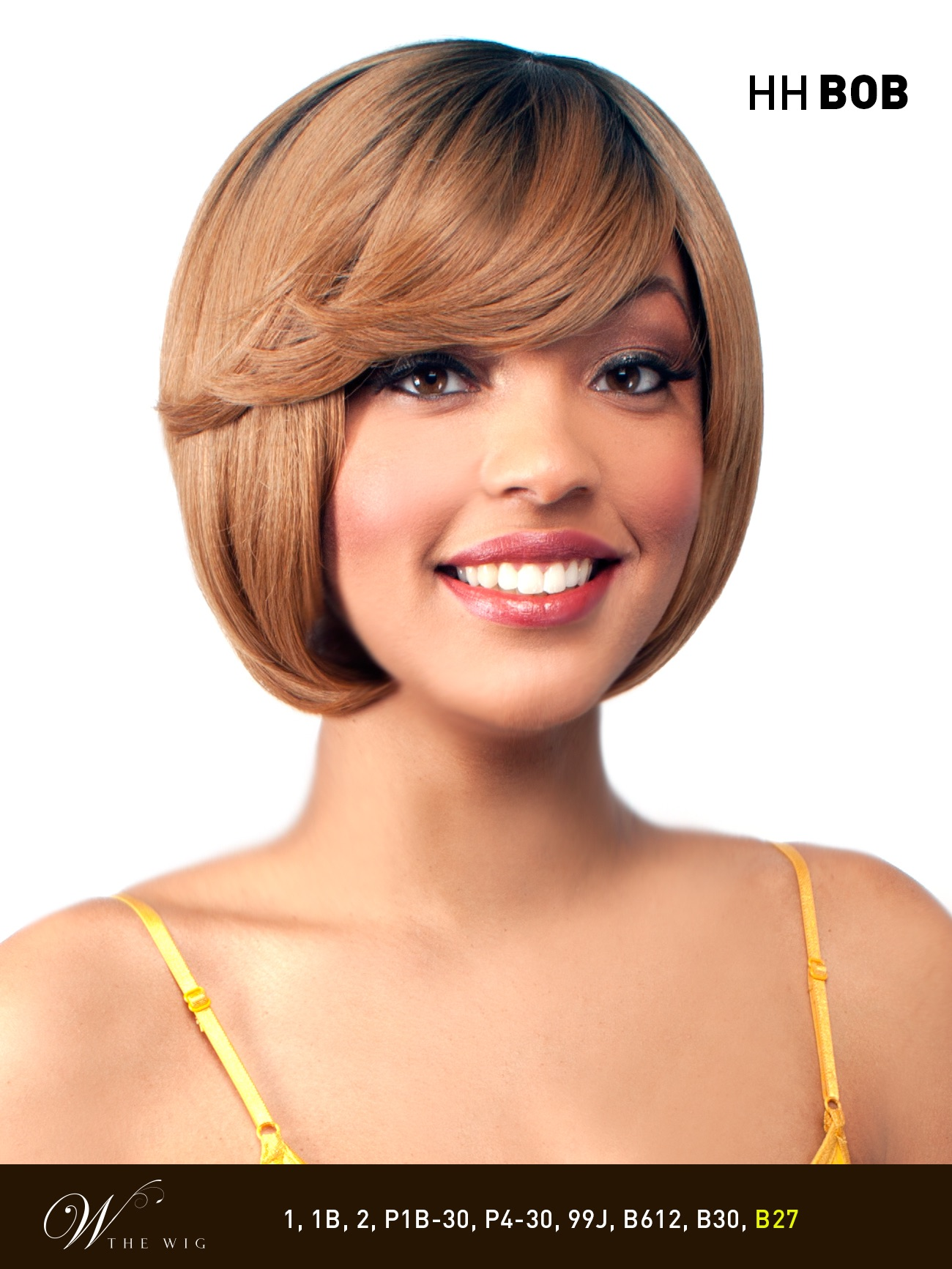 HH BOB - THE WIG 100% BRAZILIAN HUMAN HAIR BLEND WIG