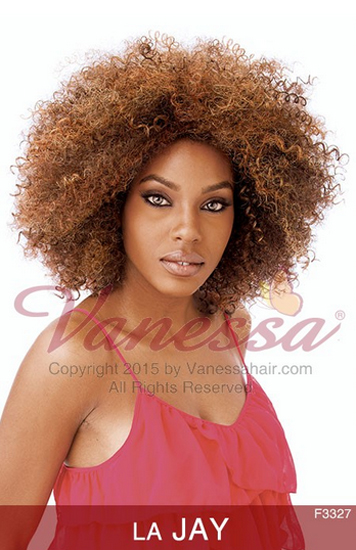 LA JAY - VANESSA SYNTHETIC EXPRESS WEAVE HALF WIG CURLY JERRY CURL AFRO