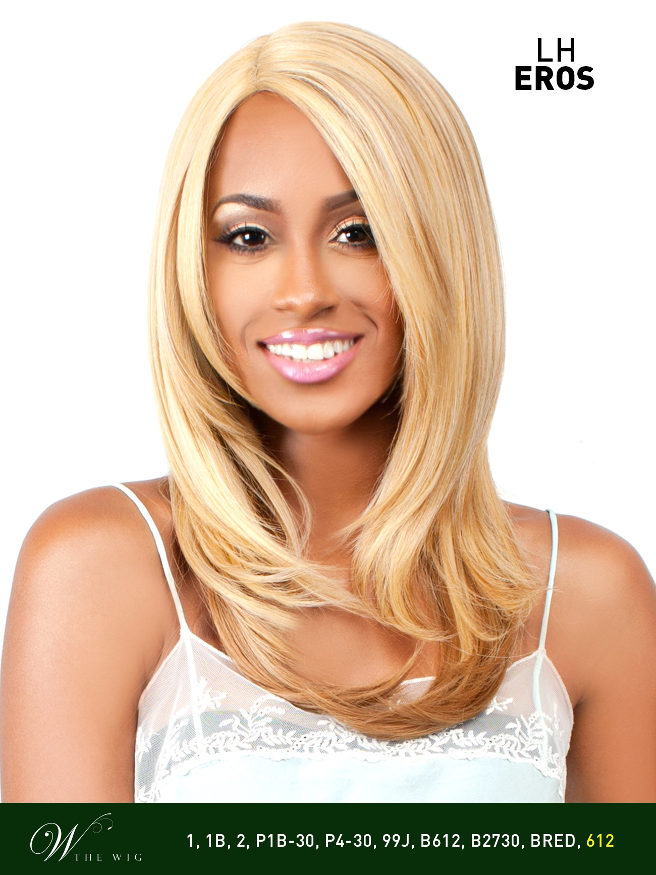 Lh eros the wig brazilian human hair blend invisible part lace front