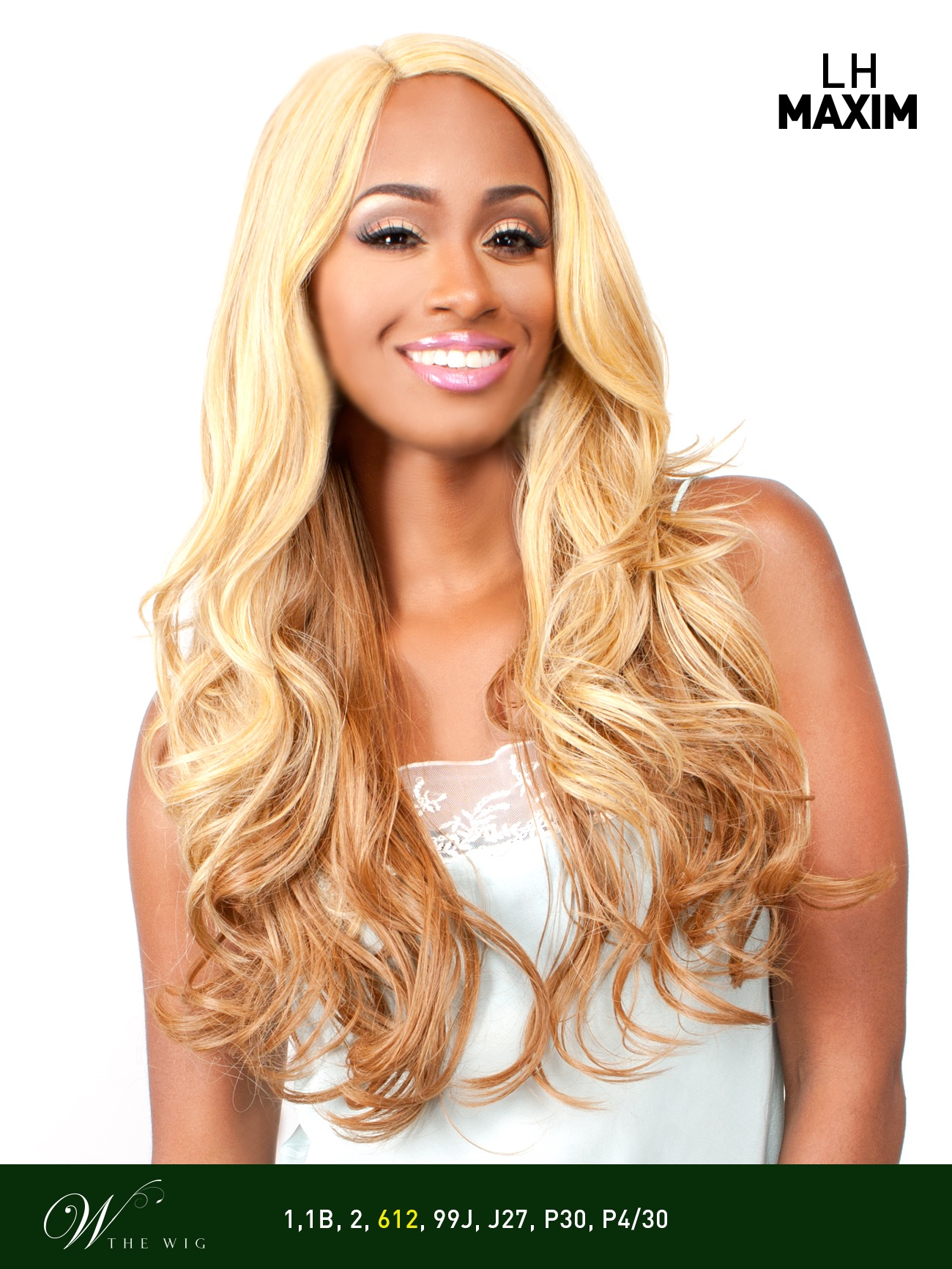 LH MAXIM - THE WIG BRAZILIAN HUMAN HAIR BLEND INVISIBLE PART LACE FRONT WIG