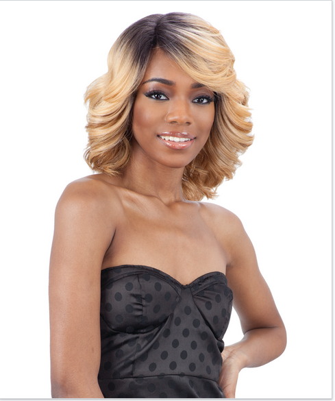 LOVE BLOSSOM - FREETRESS EQUAL SYNTHETIC DEEP DIAGONAL PART LACE FRONT WIG