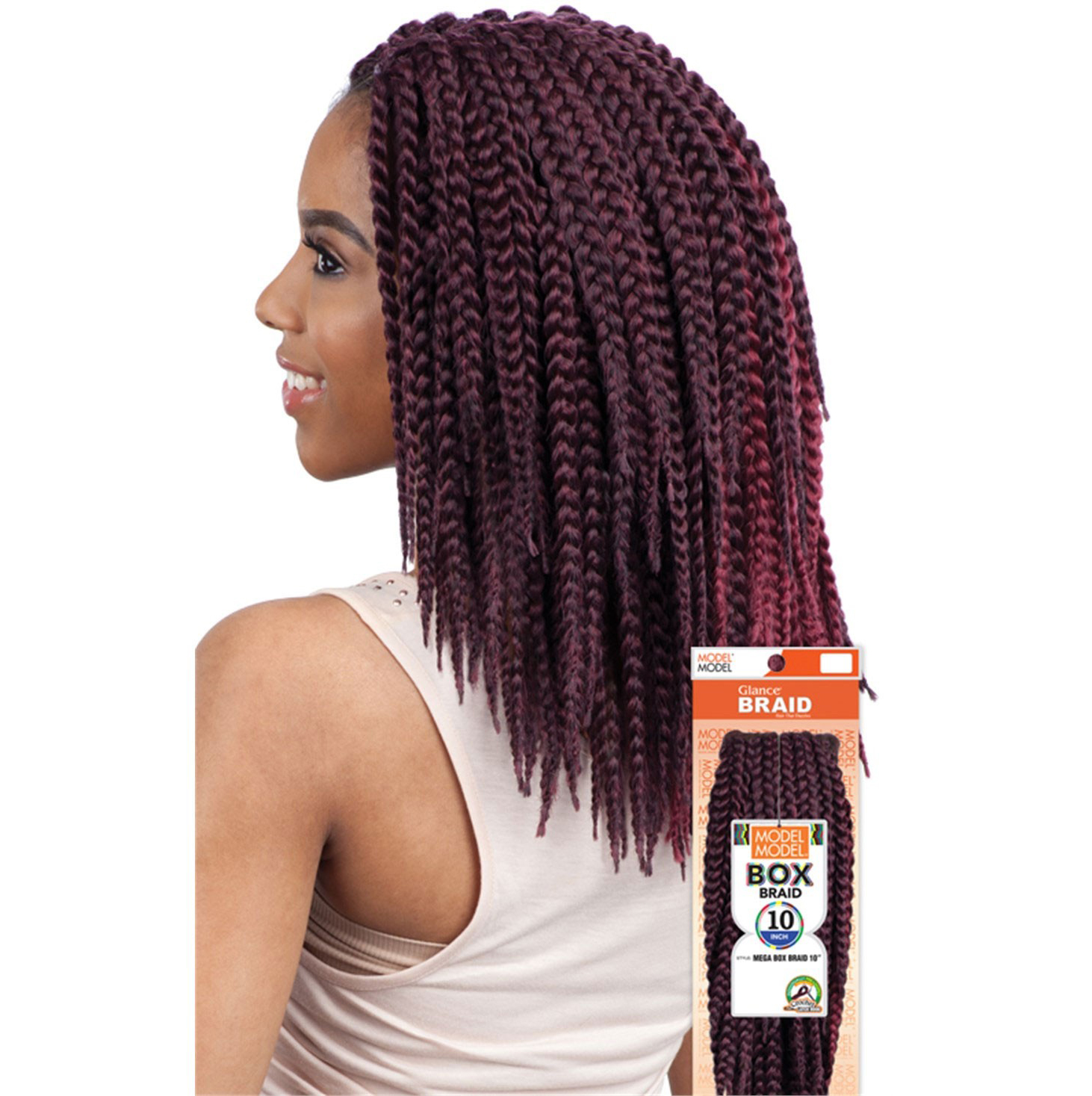 Crochet Box Braids Model Model : MEGA-BOX-BRAID-10-034-MODEL-MODEL-GLANCE-SYNTHETIC-CROCHET-BRAIDING ...