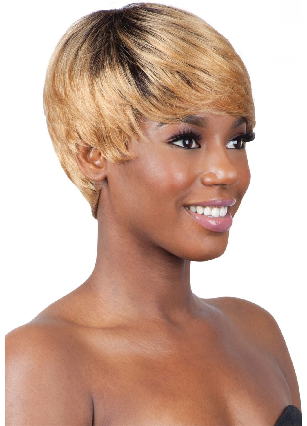 KOA  MODEL MODEL EGO 100% HUMAN REMY HAIR FULL WIG SHORT