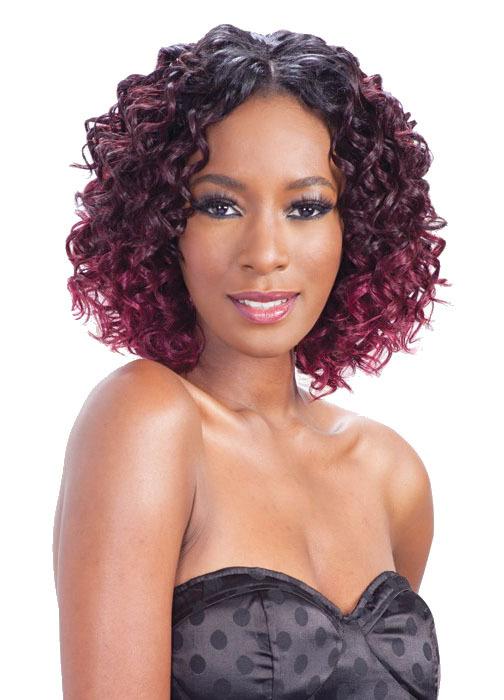 Q New Italian Curl 3pcs Que By Milkyway Human Hair Blend