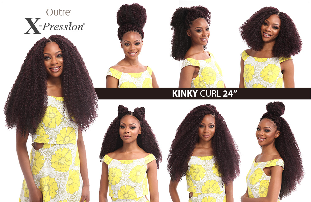 Crochet Braids Xpression Multi : Multi-Pack-Kinky-Curl-24-034-Braid-Outre-X-Pression-Synthetic-Crochet ...