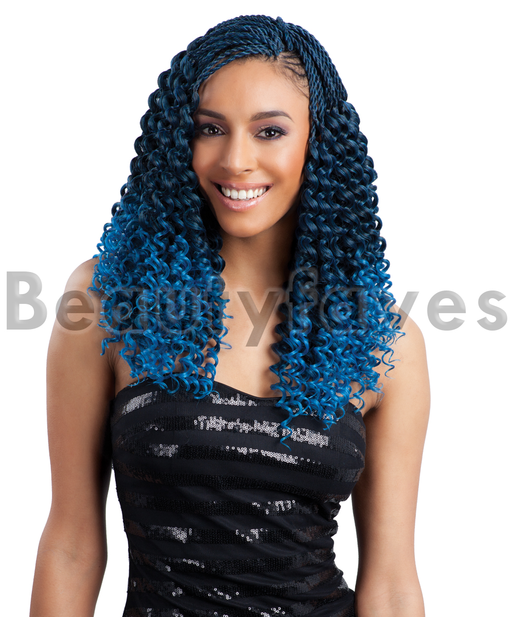 Pre Curled Bohemian Freetress Braid Bulk Crochet Braiding Hair