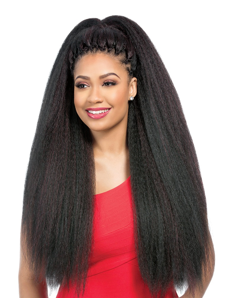 JUMBO LOOP BRAID 24u0026quot; - SENSATIONNEL X-PRESSION SYNTHETIC CROCHET BRAIDING HAIR