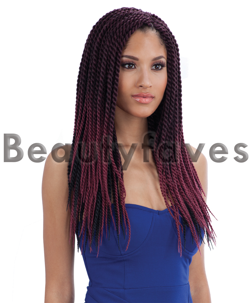 SINGLE TWIST LARGE - FREETRESS BRAID BULK CROCHET SENEGAL BRAIDING ...
