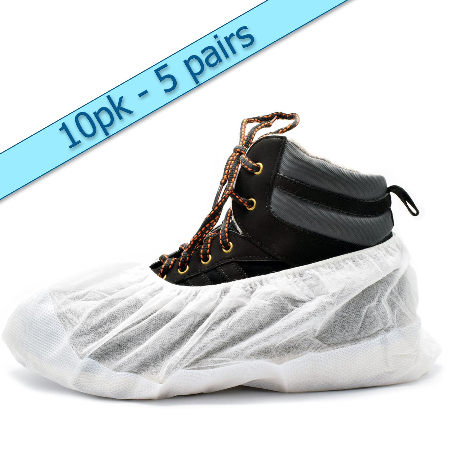 Heavy Duty Tear Resistant Re-Usable Overshoes Shoe Covers All Qties White