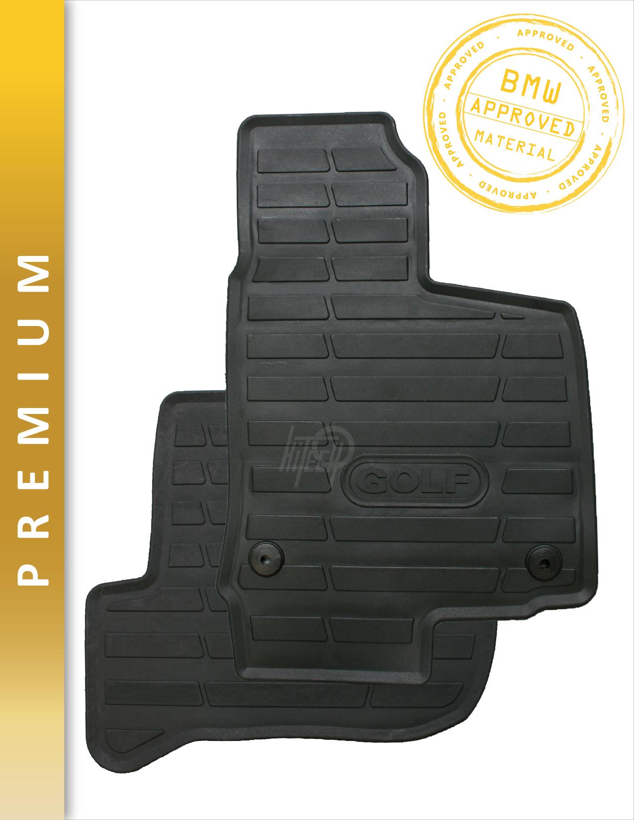 Genuine Hitech Vw Golf Fully Tailored Premium Rubber Mats
