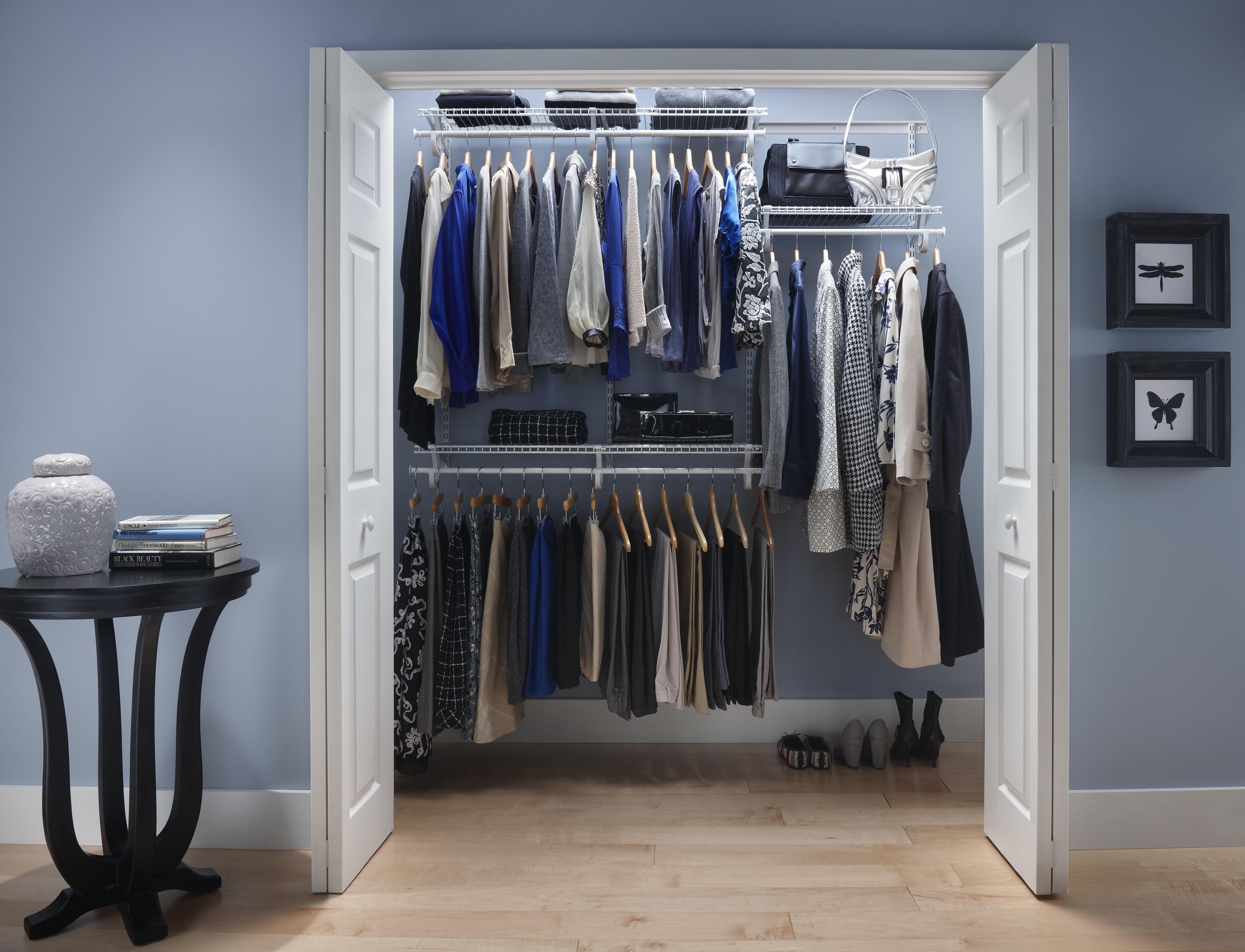 Closetmaid shelftrack 4 ft 6 ft w closet organizer kit for Where to buy closet organizers