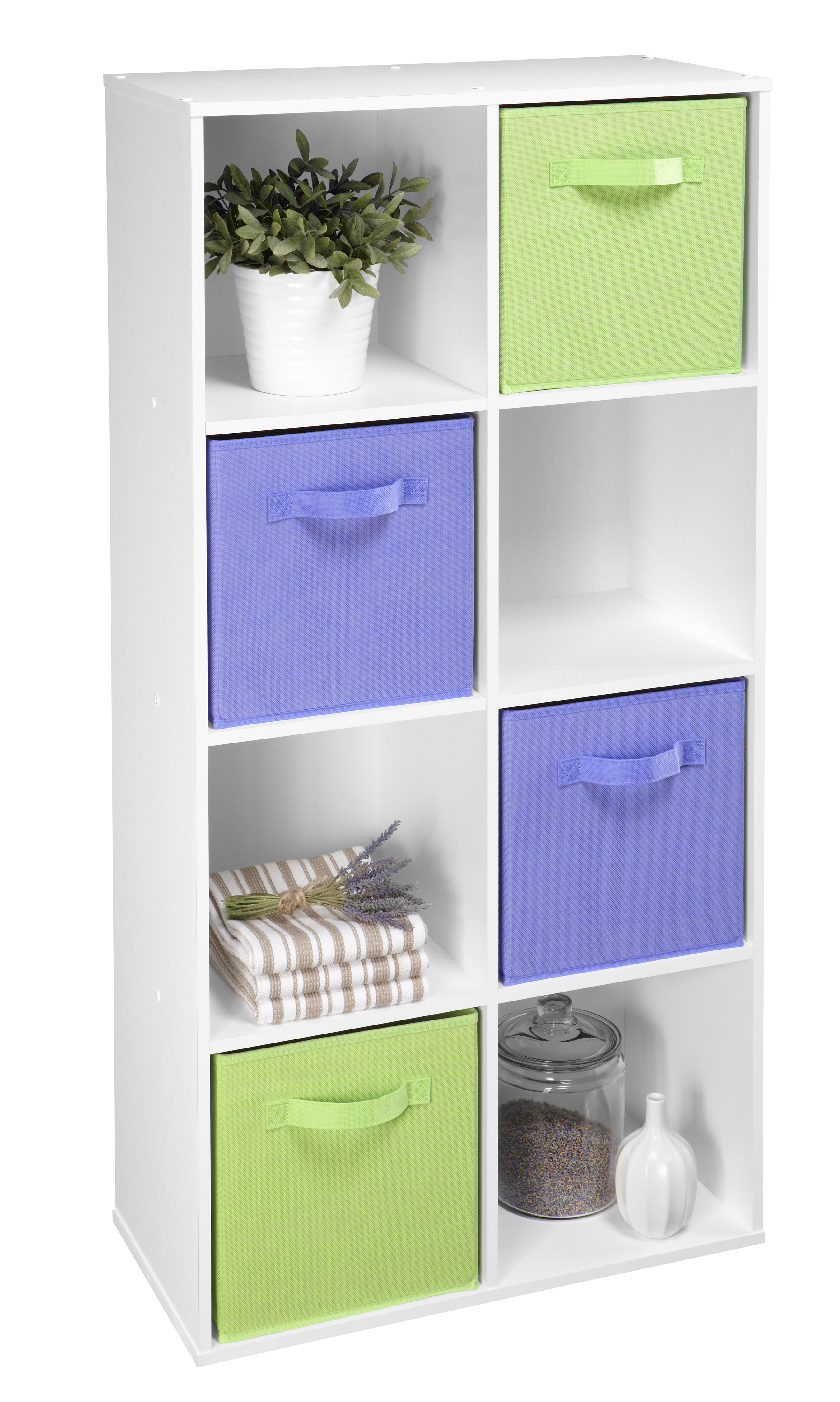 White 8 cube organizer