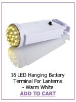 16 LED Hanging Battery Terminal For Lanterns - Warm White