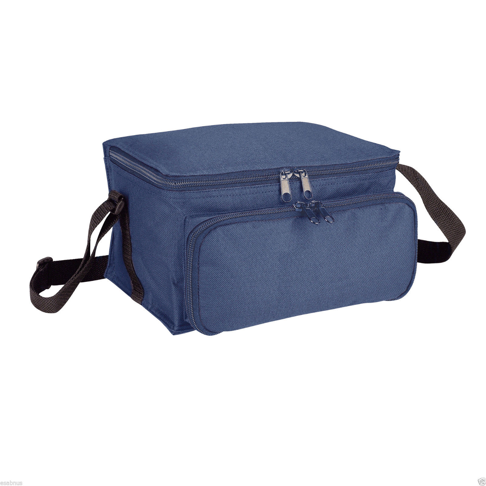 2 Compartment Coolbag/Cooler Bag/Lunch Box PICNIC BBQ CAMPING blue/white/orange