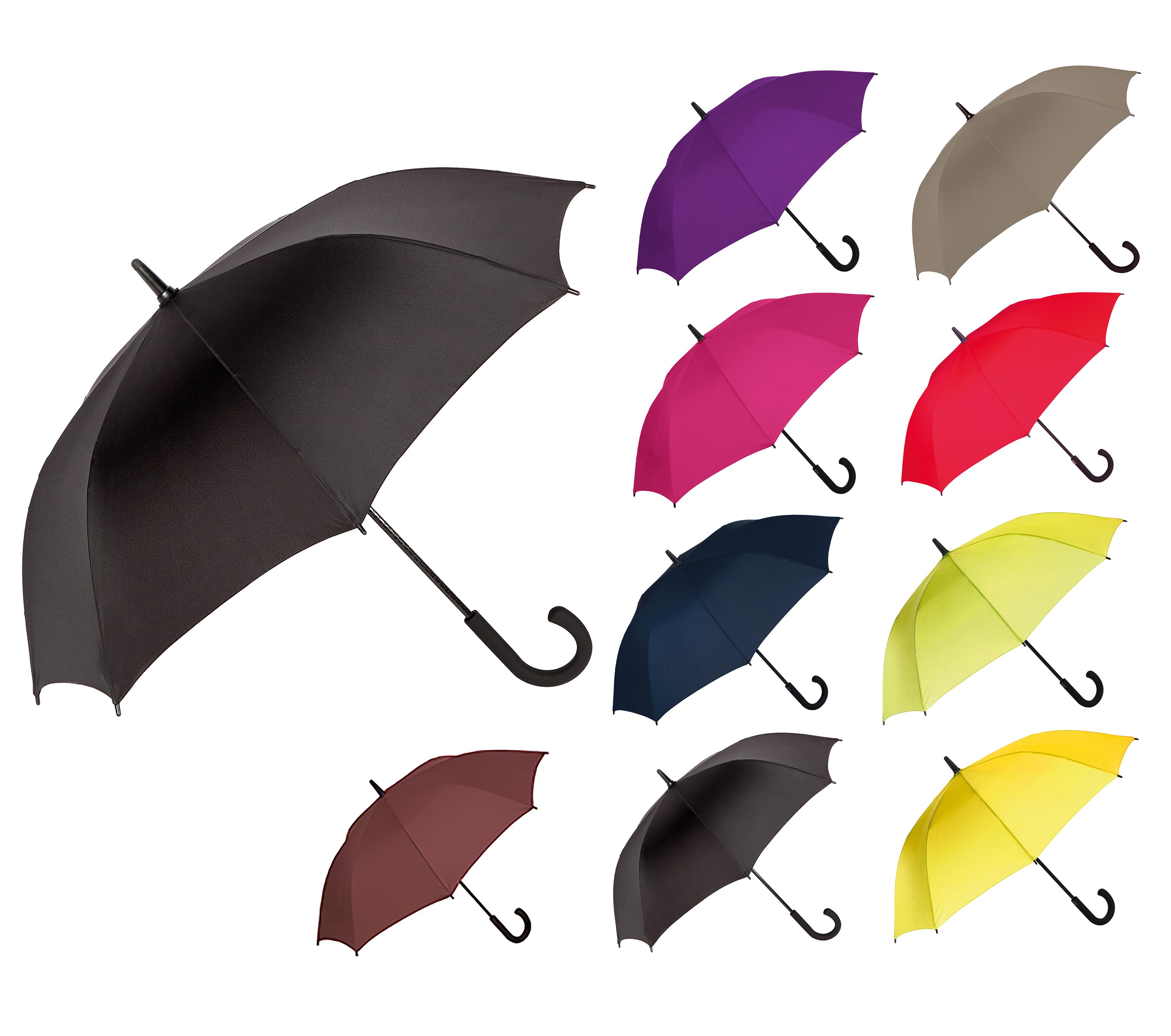 Carbon-Fibre-Shaft-Umbrella-black-fibreglass-ribs-golf-Storm-proof-102cm-40-034