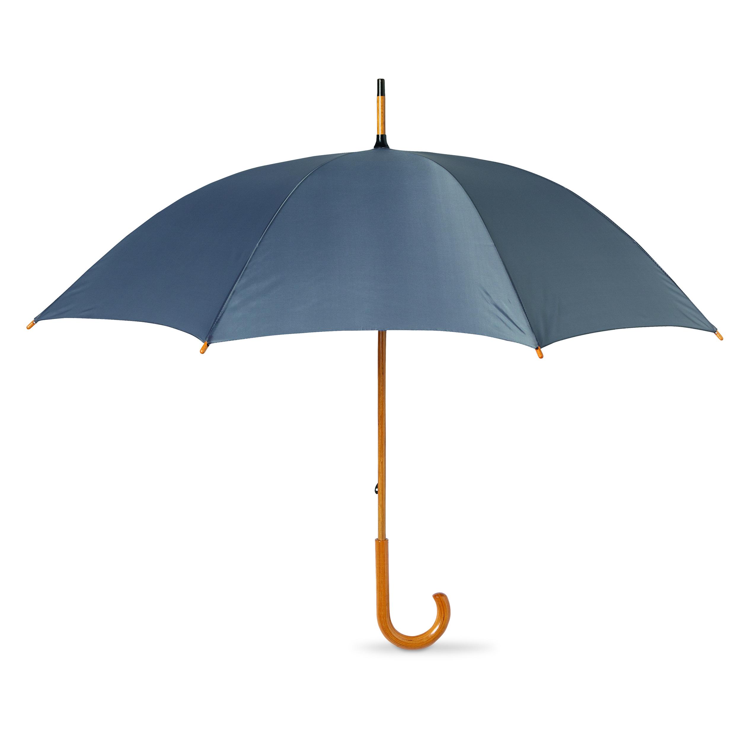 2-Stylish-Umbrellas-with-crooked-wooden-handle-Bride-Wedding-Groom-Walking