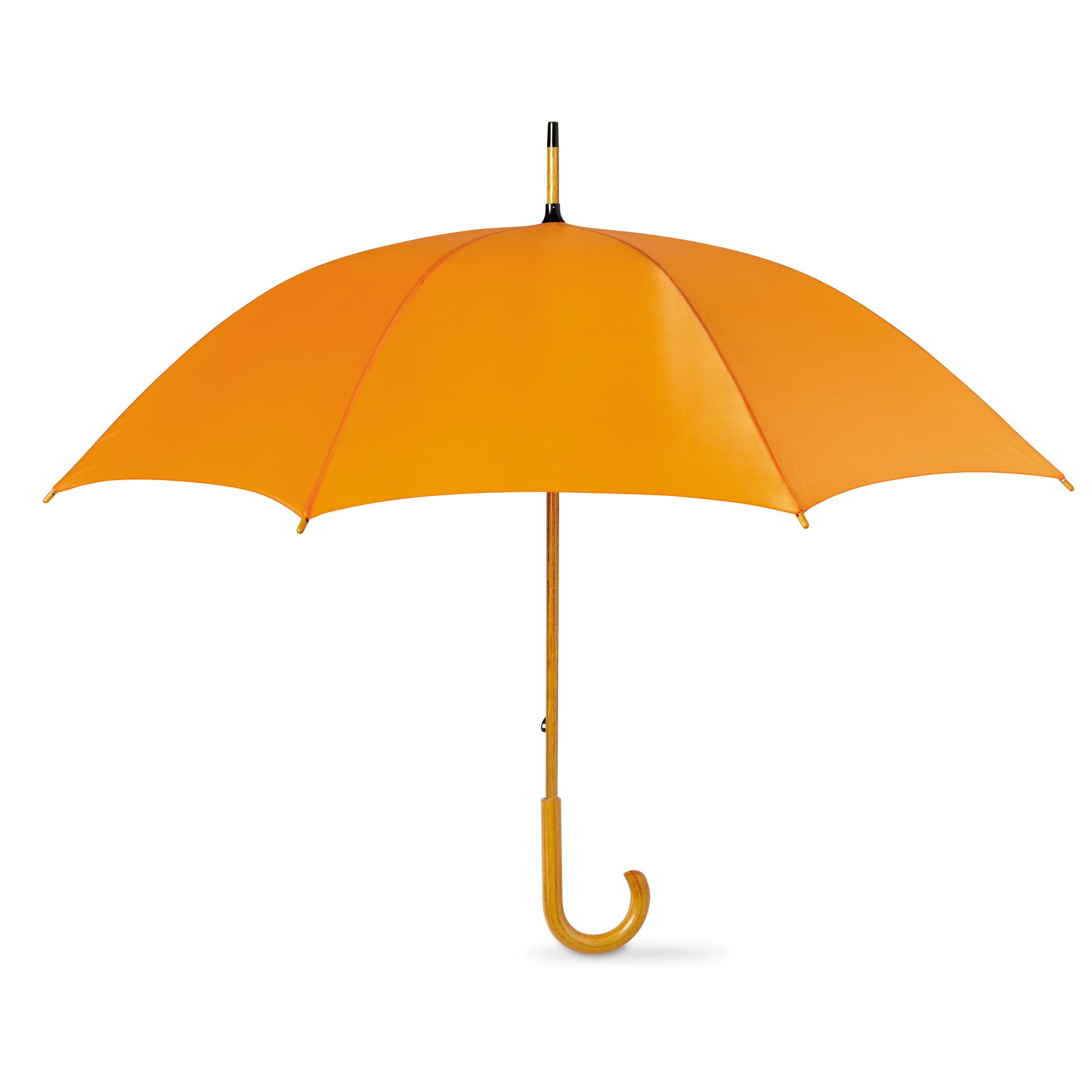 Classique-parapluie-en-bois-Crochu-Poignee-Manuel-Ouverture-106Cm-Environ-107cm