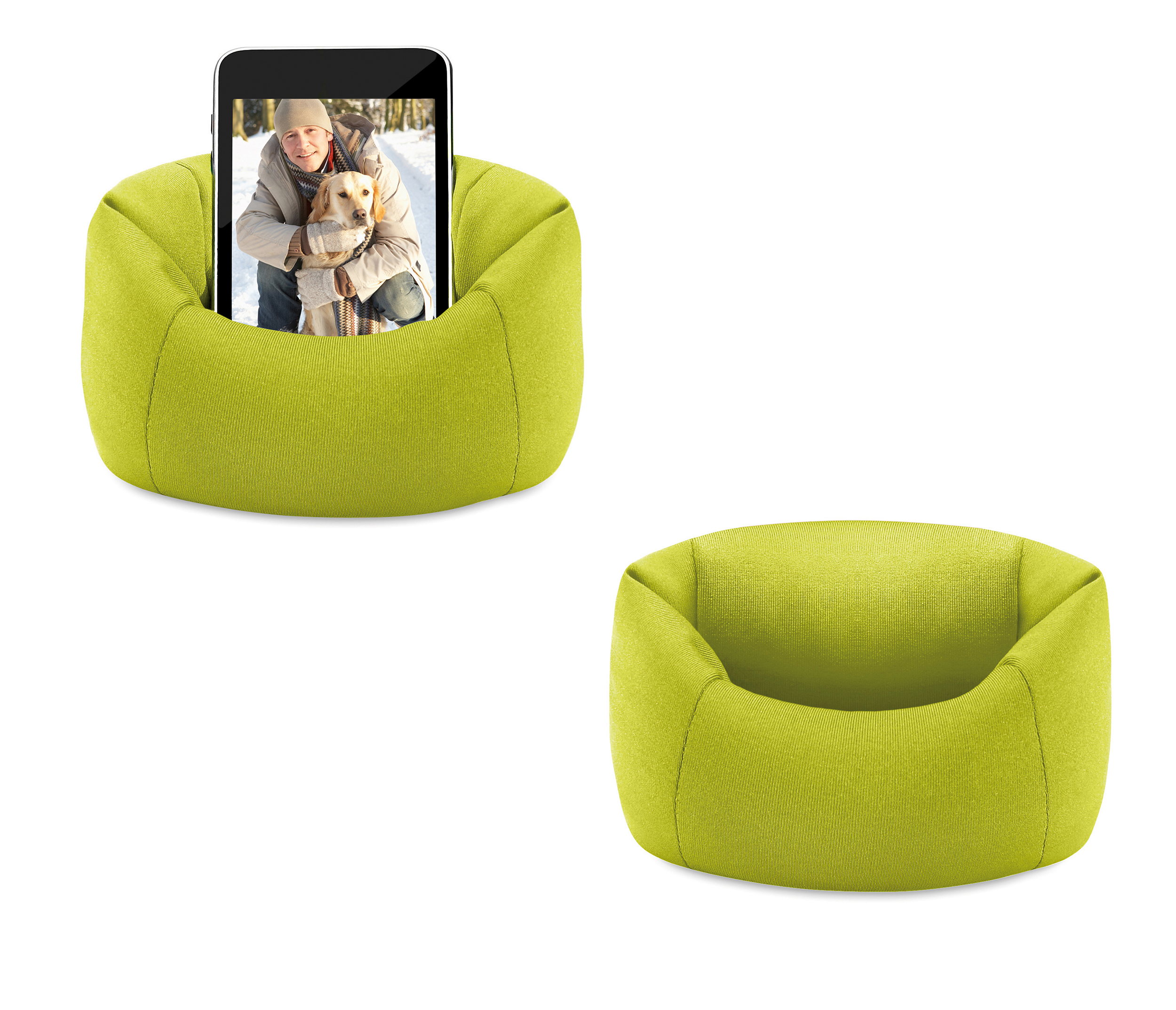 """Bean Bag Chair Sofa Holds Mobile Phone up to 5"""" screens and Music"""