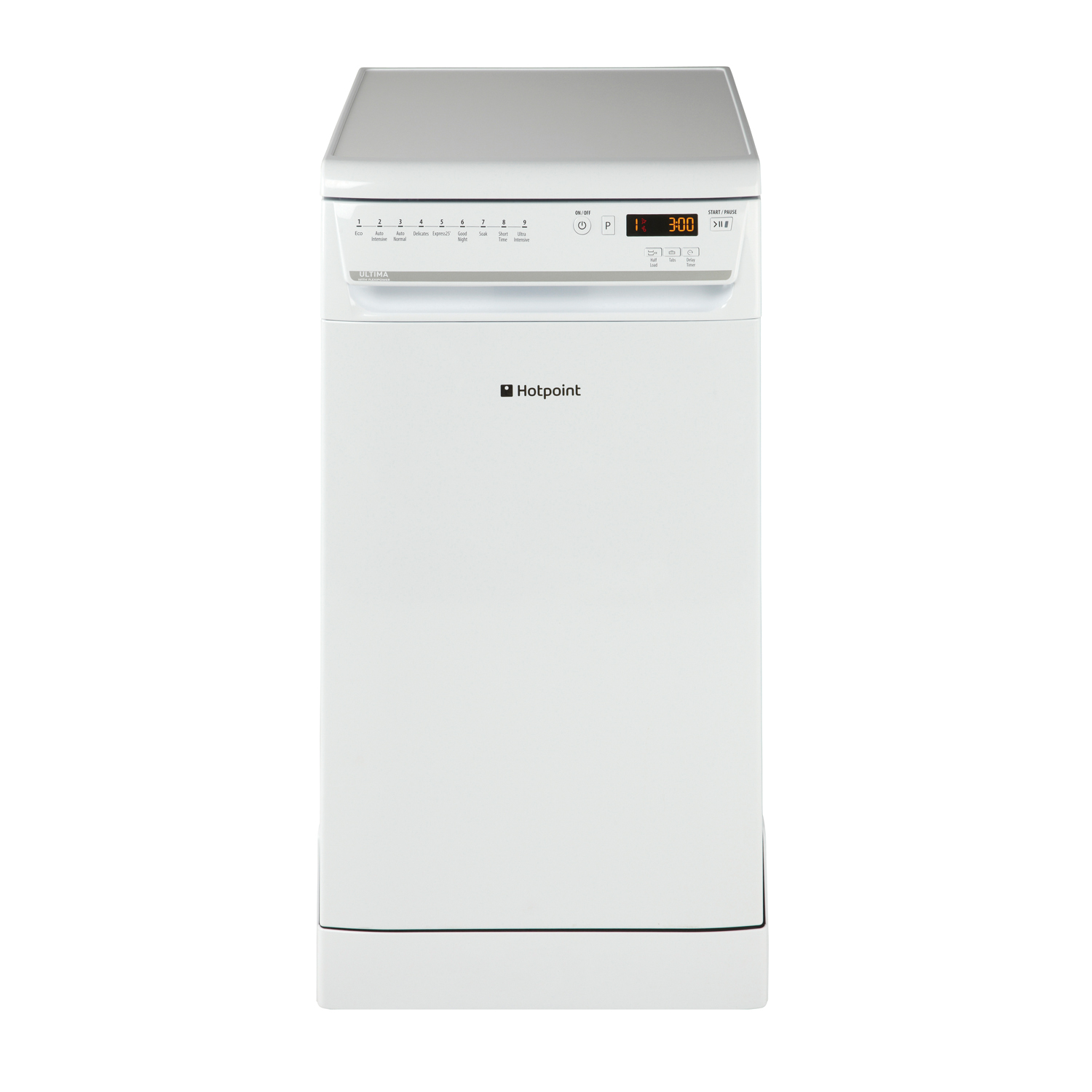 hotpoint ultima siuf22111p slimline dishwasher white ebay. Black Bedroom Furniture Sets. Home Design Ideas