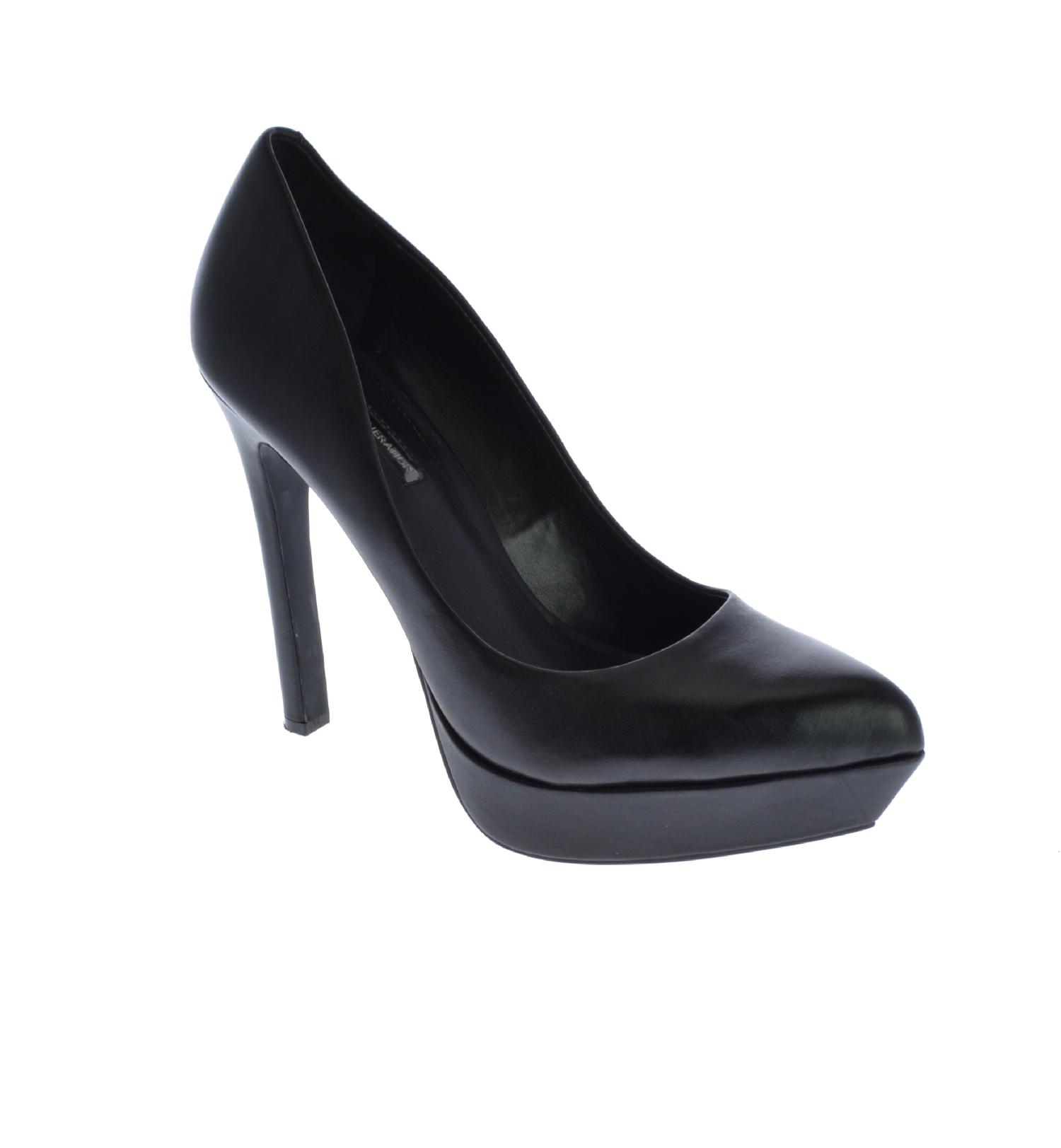 BCBGeneration-Sochi-Womens-Size-8-5-Black-Leather-High-Heel-Platforms-EU-38-5