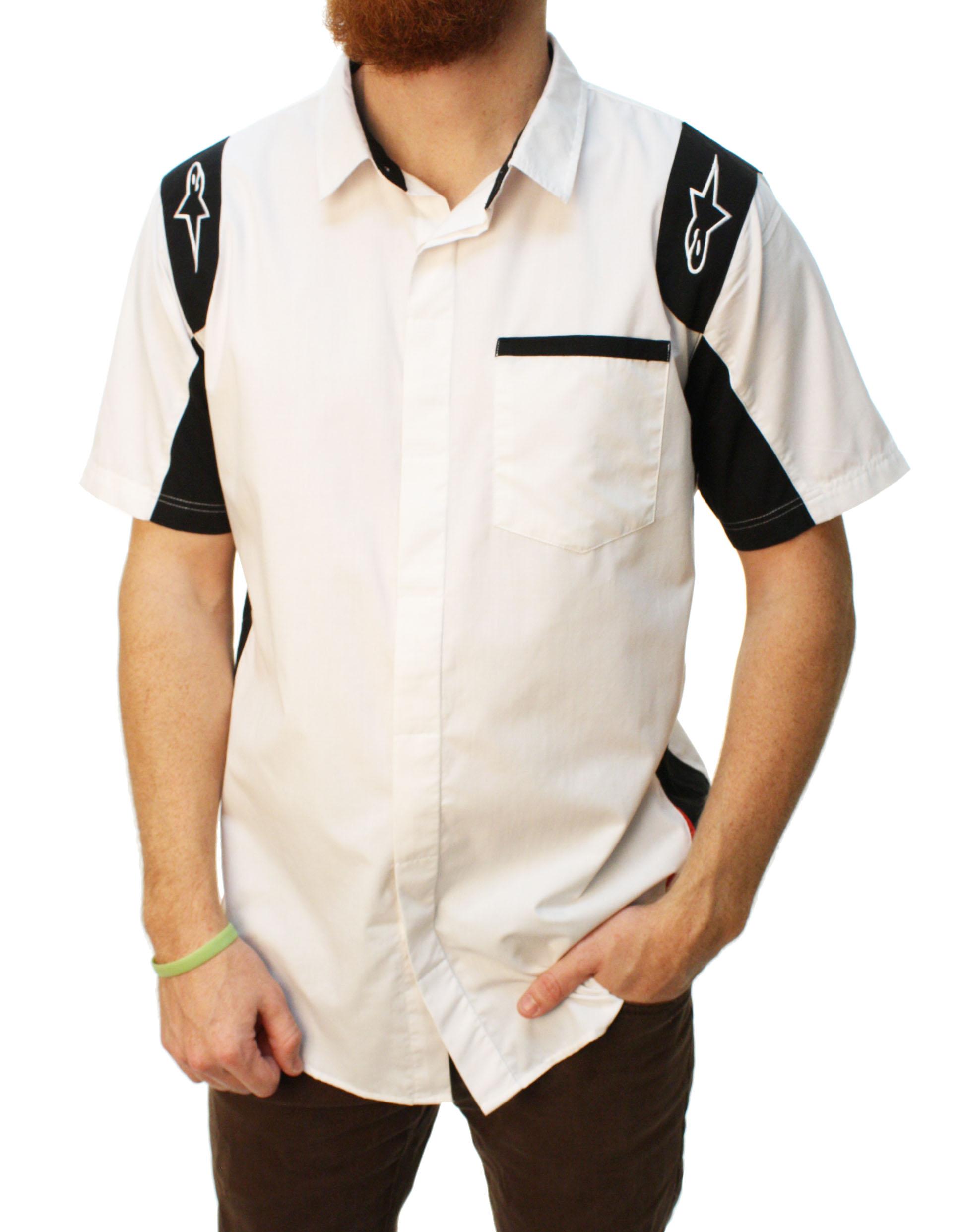 Alpinestars Men's Sao Paolo Woven Short Sleeve Button Up Shirt