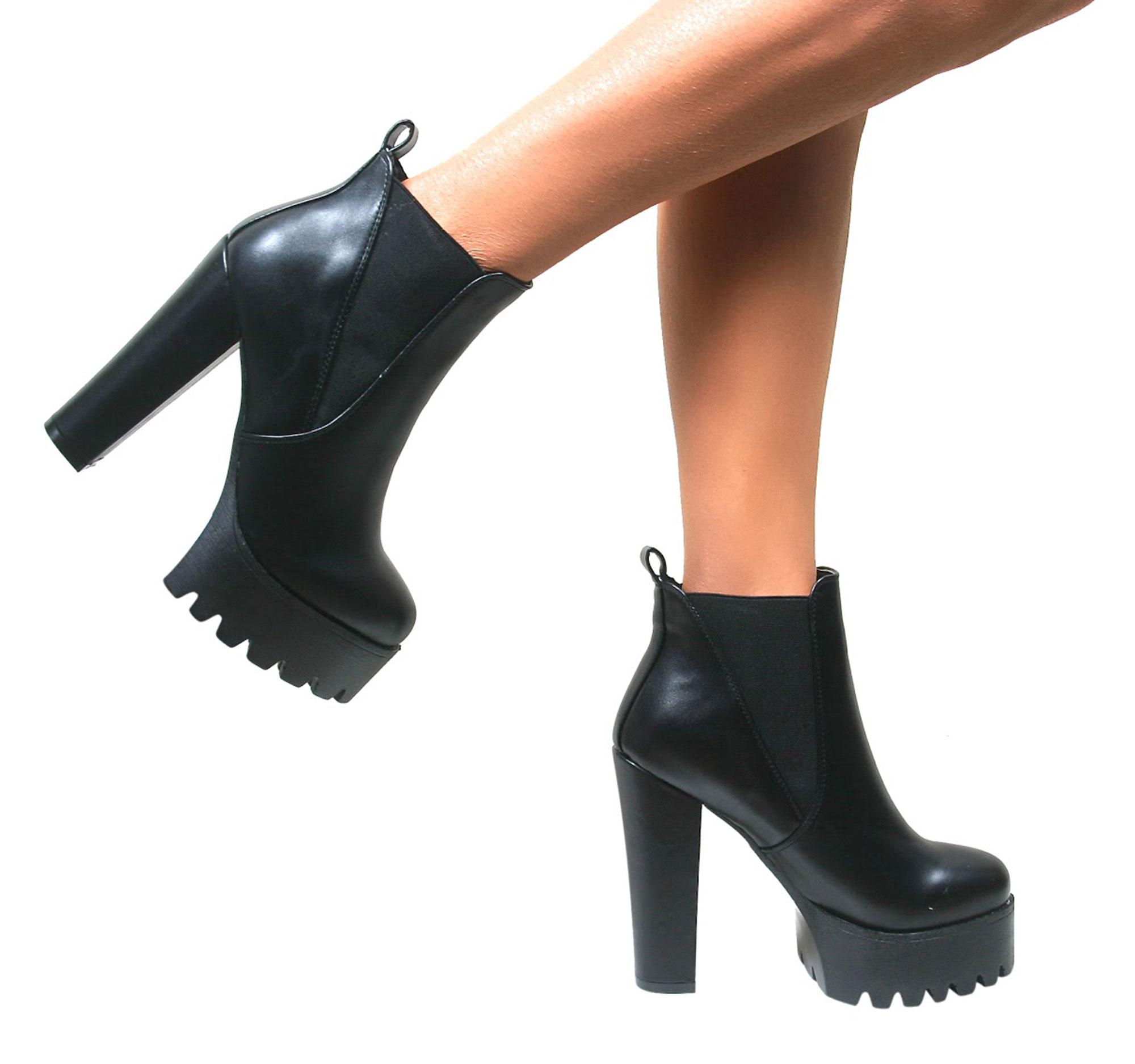 Chaussure A Talon Grosse Semelle
