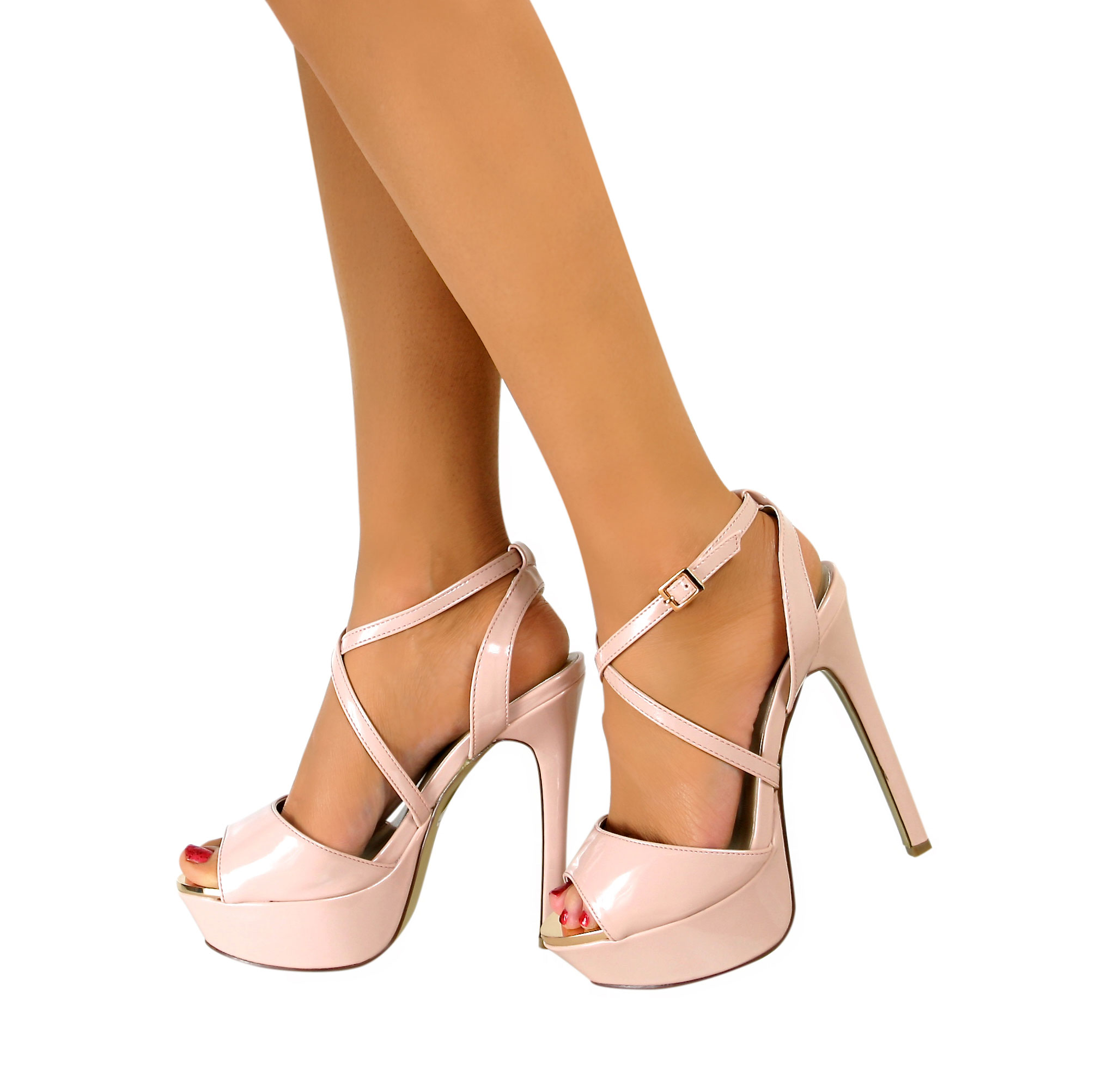 Womens sandals in size 12 - Womens High Heel Sandals Ladies Party Stiletto Ankle