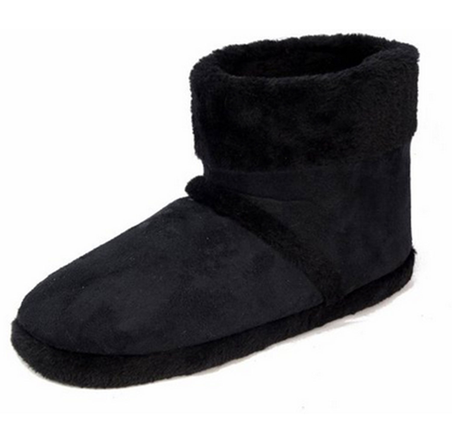 mens dunlop boots new slip on warm luxury faux fur lined